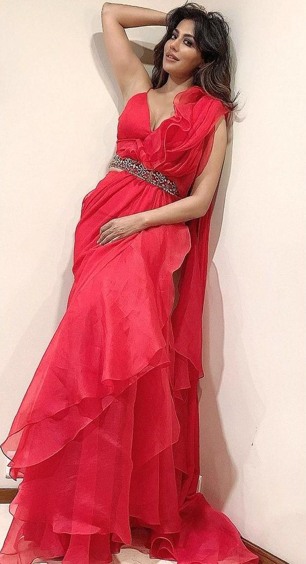 Chitrangda Singh keeps it traditional in poppy red organza and chiffon saree worth Rs. 59,900