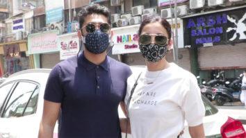 Gauahar Khan & Zaid Darbar spotted at Lokhandwala