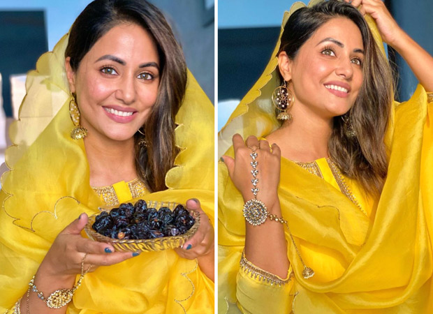 Hina Khan is a ray of sunshine in yellow as she extends wishes on Ramadan Kareem