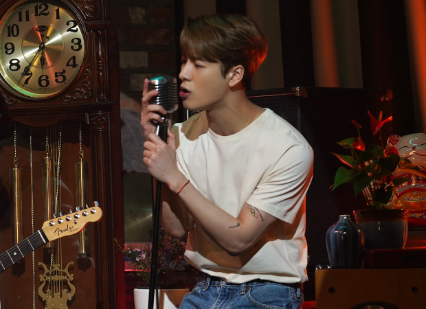Jackson Wang recreates 'Leave Me Loving You' music video for his first performance on The Late Late Show With James Corden