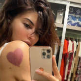 Jacqueline Fernandez poses in a lacy bra to show her new found love for heart-shaped cupping therapy