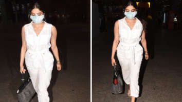 Janhvi Kapoor keeps it comfy in white jumpsuit; carries luxury Goyard handbag worth Rs. 3.2 lakhs