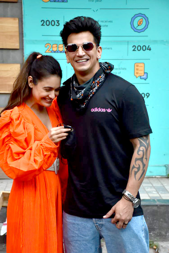 Prince Narula and Yuvika Chaudhary snapped in Andheri (1)
