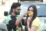 Rahul Vaidya & Disha Parmar spotted at Croma in Andheri
