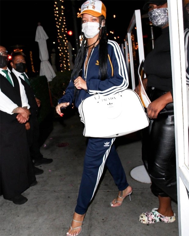 Rihanna steps out in hard-to-get Prada x Adidas bag worth Rs. 2.3 lakhs