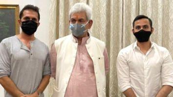 "Ritesh Sidhwani meets Lt. Governer General of Jammu and Kashmir; calls it an ""absolute honour"""