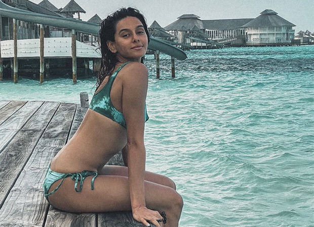 Shibani Dandekar raises the mercury levels as she poses in a bikini in The Maldives