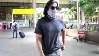 Spotted - Suniel Shetty and Aarya Babbar at Airport