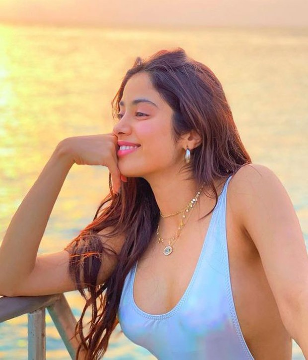 Janhvi Kapoor glows in an iridescent monokini in these latest pictures from the Maldives