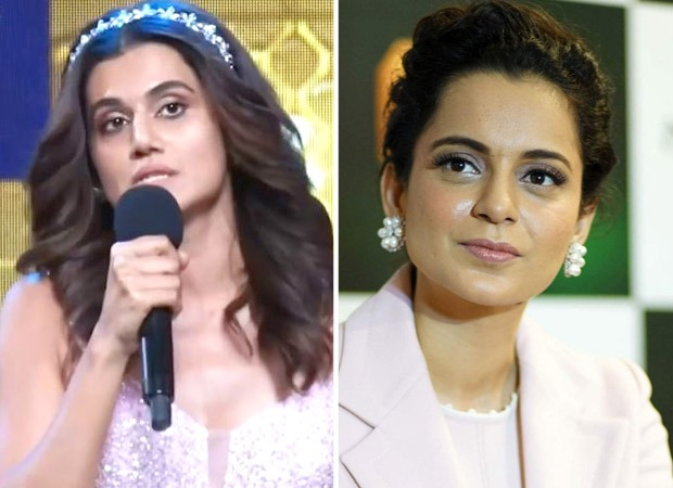 Taapsee Pannu thanks Kangana Ranaut for pushing boundaries in her acceptance speech at FilmFare Awards