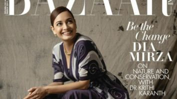 Dia Mirza On The Cover Bazaar