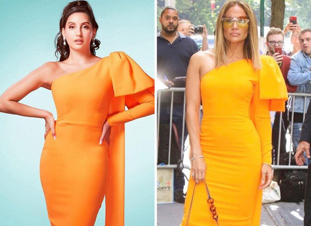 FASHION FACE-OFF Nora Fatehi or Jennifer Lopez – who looked breathtaking in Alexa Perry one-shoulder midi bodycon