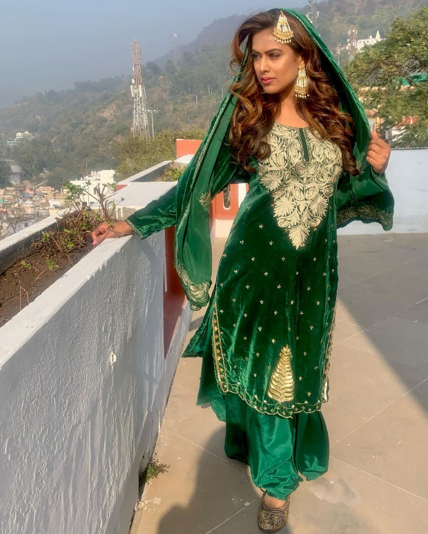 Nia Sharma posts alluring pictures in traditional Eid look from upcoming music video 'Tum Bewafa Ho' starring Arjun Bijlani