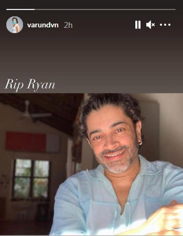 توفي منتج Indu الشاب ريان ستيفن بسبب COVID-19 ؛  فارون داوان ، كيارا أدفاني ، مانوج باجباي حزنوا على وفاته