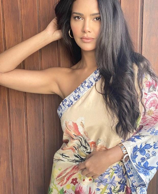 Esha Gupta looks swoon-worthy in one-shoulder Kaftan dress