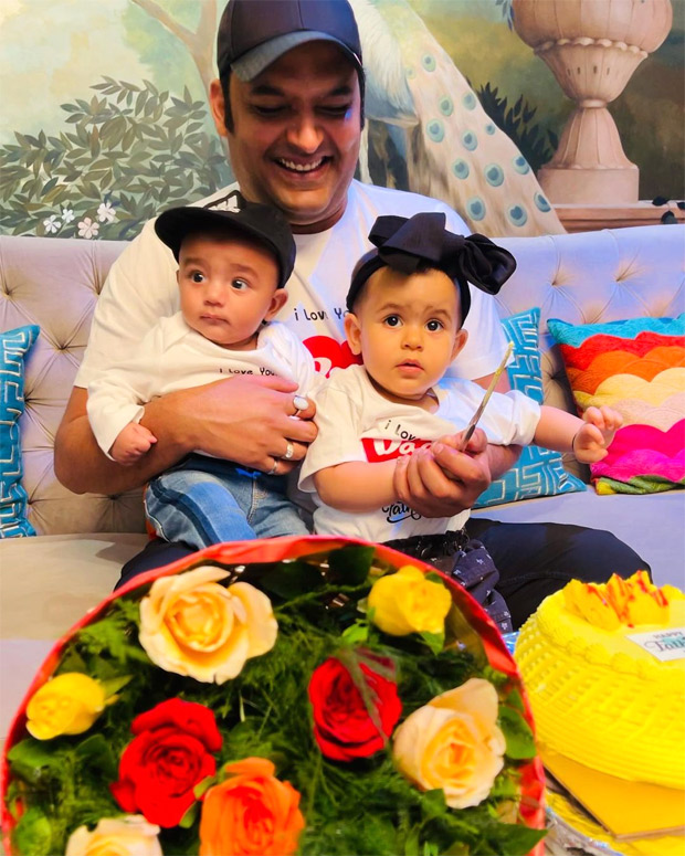 Father's Day 2021: Kapil Sharma shares first glimpse of his son Trishaan with daughter Anayra