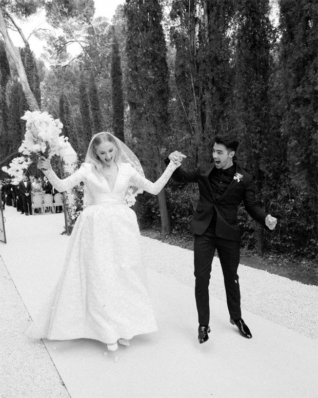 Joe Jonas and Sophie Turner celebrate second anniversary by sharing unseen photos from their glorious wedding