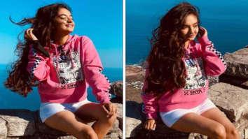 Khatron Ke Khiladi 11: Anushka Sen shares sun-kissed pictures donning pink sweatshirt and white shorts
