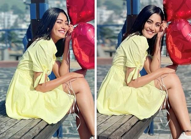 Khatron Ke Khiladi 11 Sana Makbul is a ray of sunshine on her birthday in yellow flared dress