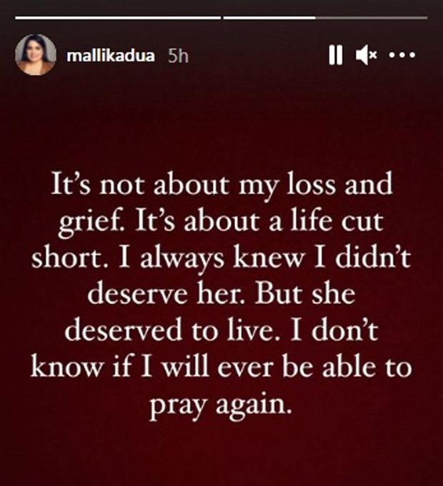 Mallika Dua's motherPadmavati Dua passes away, actress-comedian mourns untimely death of her mother