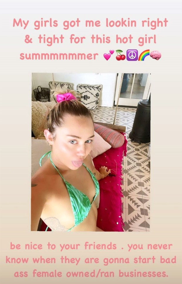 Miley Cyrus is all about 'hot girl summer' in sexy green skimpy bikini