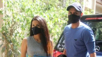 Photos: Geeta Basra and Harbhajan Singh spotted at a clinic in Khar
