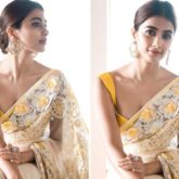 Pooja Hegde is pure demure and grace in gorgeous saree by Manish Malhotra