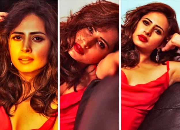 Sargun Mehta exudes charm in sultry pictures donning red satin dress and soft glam