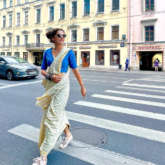 Taapsee Pannu takes to the streets of Russia in a stunning saree