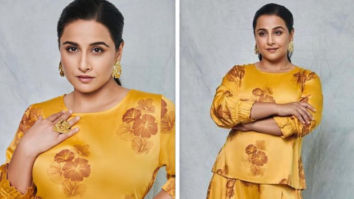 Vidya Balan's summer inspired co-ord yellow set for Sherni promotions is affordable
