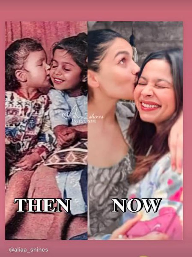 Alia Bhatt shares a now and then picture of her posing at the beach with the same expression