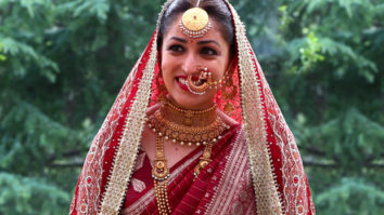 Yami Gautam's bridal look included her mother's 33-year-old traditional maroon silk saree