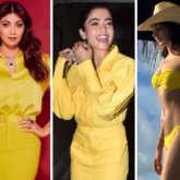 COLOUR OF THE WEEK: YELLOW – From chic dresses to bikini, Shilpa Shetty, Rashmika Mandanna, Kiara Advani shine bright