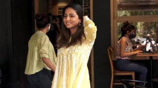 Hina Khan spotted at Starbucks in Lokhandwala Andheri
