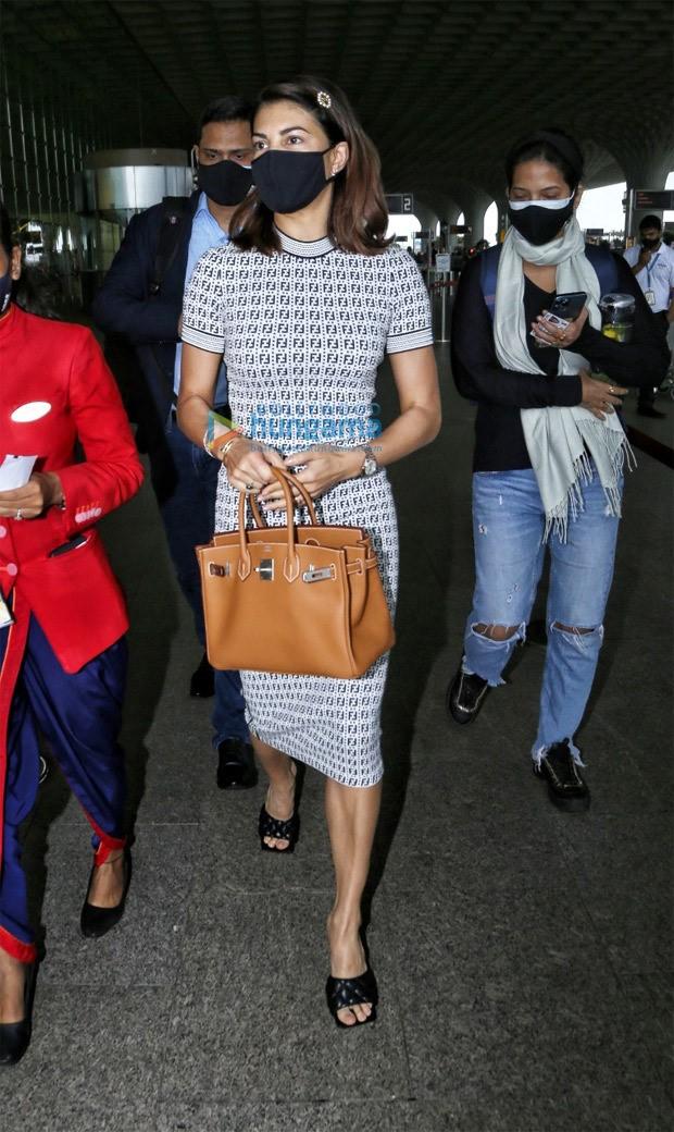 Jacqueline Fernandez dons Rs. 1 lakh worth Fendi bodycon; carries Rs. 10 lakh worth Hermès Kelly bag