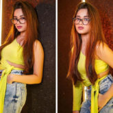 Jannat Zubair styles up her casual denims with one shoulder yellow crop top