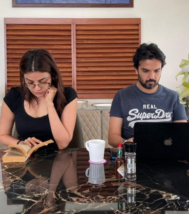 Kajal Aggarwal and Gautam Kitchlu give Work From Home goals with their latest quarantine life post