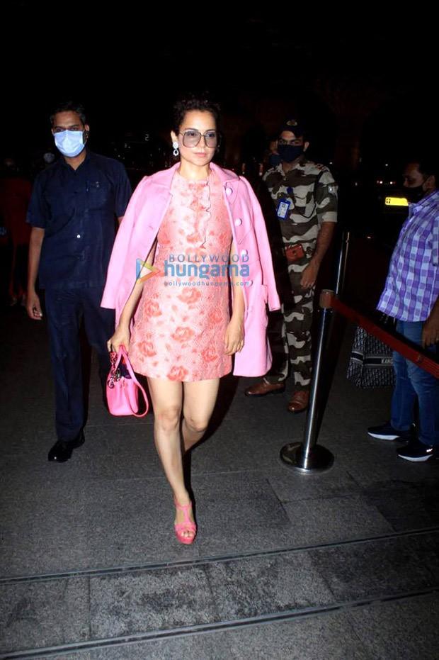 Kangana Ranaut pivots to pink mini dress and blazer from her regular saree appearances