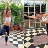 Kareena Kapoor Khan gets her balancing act right as she performs yoga asanas