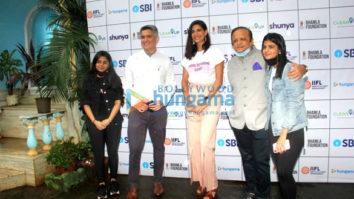 Photos: Aahana Kumra, Arjun Kapoor, Aditya Roy Kapur among others snapped at Bhamla Foundation's vaccination drive in Bandra