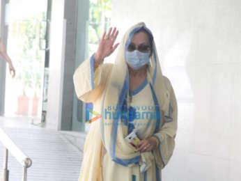 Photos: Saira Banu snapped at Hinduja Hospital in Bandra