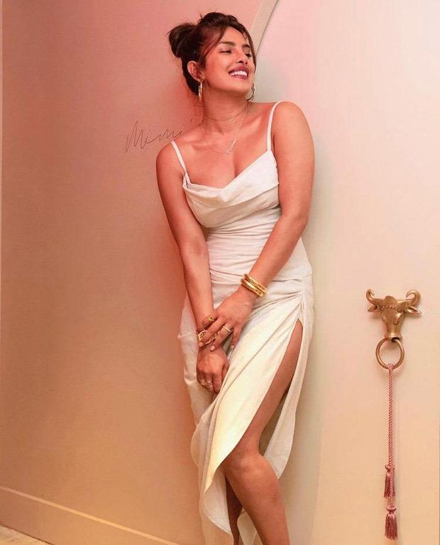 Priyanka Chopra dons risky Jacquemus thigh-high slit dress worth Rs. 59,430 as she visits her NYC restaurant