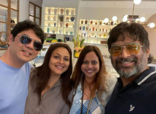 R Madhavan and Shilpa Shirodkar meet in Dubai; share picture from get together