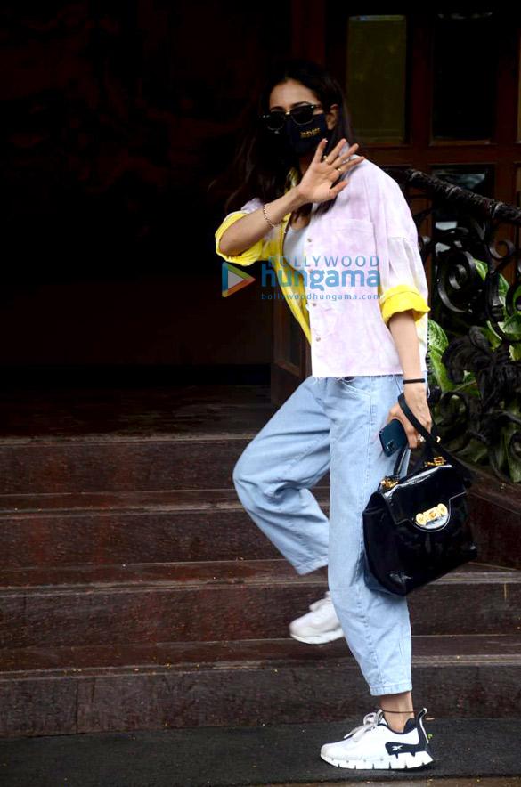 Photos: Rakul Preet Singh spotted at dubbing studio in Andheri
