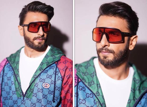 Ranveer Singh colour blocks in multicolour Gucci jersey sweatshirt worth Rs. 1.4 lakh