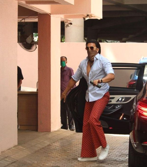 Ranveer Singh gives major style inspiration in light blue shirt and flared printed pants