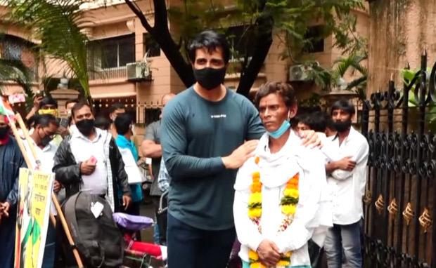 Sonu Sood's fan cycles 1200 km to meet him, watch video