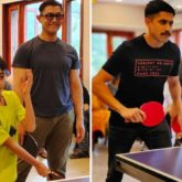 Aamir Khan and Naga Chaitanya enjoy a Table Tennis tournament with the unit of Laal Singh Chaddha, see pictures!