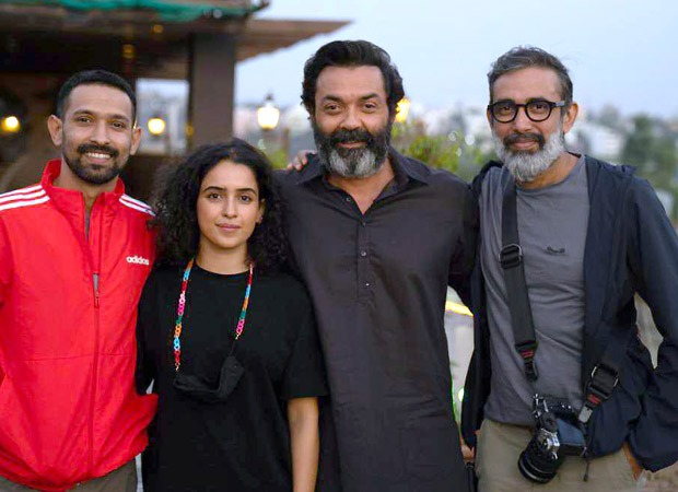 Vikrant Massey, Sanya Malhotra, and Bobby Deol wrap up the shoot of Love Hostel