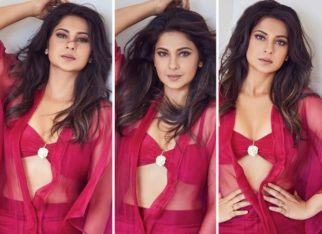 """""""Move over Fuschia,"""" says Jennifer Winget as she personifies monochrome style in a sheer magenta outfit"""